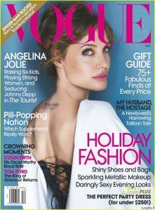 Angelina Jolie gruodžio Vogue US viršelyje