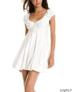 Maža balta suknelė