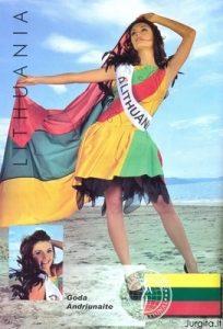 Godos Anriūnaitės pasiekimai tarptautiniame grožio konkurse Miss Globe 2009