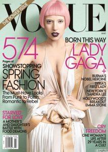 """Rožinė Lady Gaga puošia """"Vogue"""""""